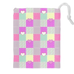 Old Quilt Drawstring Pouches (XXL)