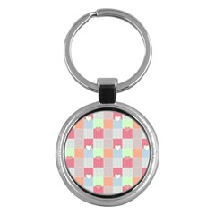 Patchwork Key Chains (Round)
