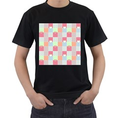 Patchwork Men s T-Shirt (Black) (Two Sided)