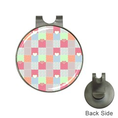 Patchwork Hat Clips with Golf Markers