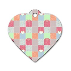Patchwork Dog Tag Heart (Two Sides)