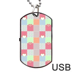 Patchwork Dog Tag USB Flash (Two Sides)