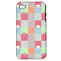 Patchwork Apple iPhone 4/4S Hardshell Case (PC+Silicone)