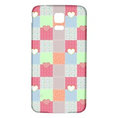 Patchwork Samsung Galaxy S5 Back Case (White)
