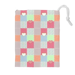 Patchwork Drawstring Pouches (Extra Large)