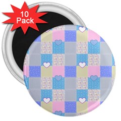 Patchwork 3  Magnets (10 pack)
