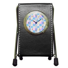 Patchwork Pen Holder Desk Clocks