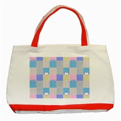 Patchwork Classic Tote Bag (Red)