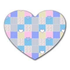 Patchwork Heart Mousepads