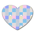 Patchwork Heart Mousepads Front