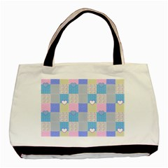 Patchwork Basic Tote Bag (Two Sides)