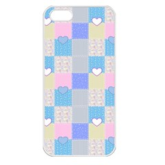 Patchwork Apple iPhone 5 Seamless Case (White)