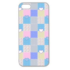 Patchwork Apple Seamless iPhone 5 Case (Clear)