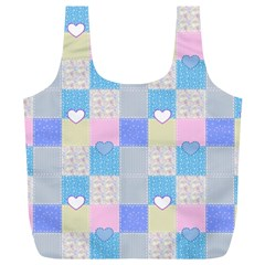 Patchwork Full Print Recycle Bags (L)