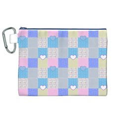 Patchwork Canvas Cosmetic Bag (XL)