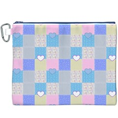 Patchwork Canvas Cosmetic Bag (XXXL)