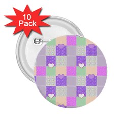 Patchwork 2.25  Buttons (10 pack)