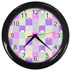 Patchwork Wall Clocks (Black)