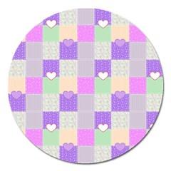 Patchwork Magnet 5  (Round)