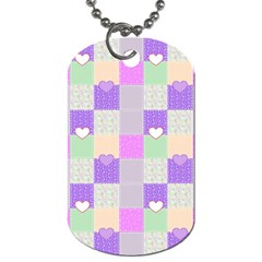 Patchwork Dog Tag (One Side)