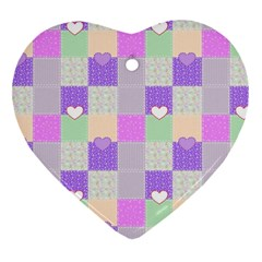 Patchwork Heart Ornament (Two Sides)