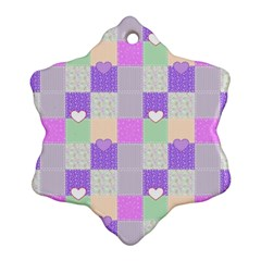 Patchwork Snowflake Ornament (Two Sides)