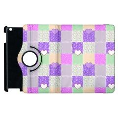 Patchwork Apple iPad 3/4 Flip 360 Case