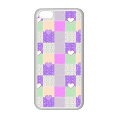 Patchwork Apple iPhone 5C Seamless Case (White)