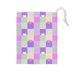 Patchwork Drawstring Pouches (Large)
