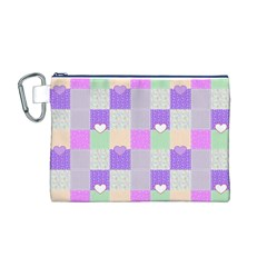 Patchwork Canvas Cosmetic Bag (M)