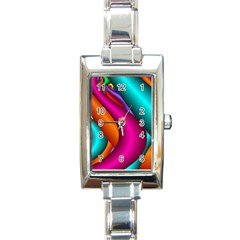 Fractal Wallpaper Color Pipes Rectangle Italian Charm Watch