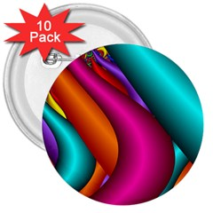 Fractal Wallpaper Color Pipes 3  Buttons (10 pack)