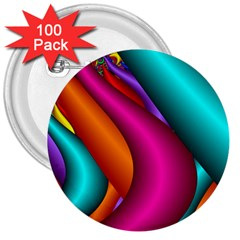 Fractal Wallpaper Color Pipes 3  Buttons (100 pack)