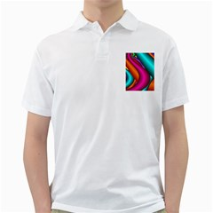 Fractal Wallpaper Color Pipes Golf Shirts