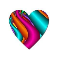 Fractal Wallpaper Color Pipes Heart Magnet