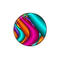 Fractal Wallpaper Color Pipes Hat Clip Ball Marker (4 Pack)