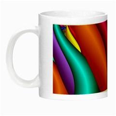 Fractal Wallpaper Color Pipes Night Luminous Mugs