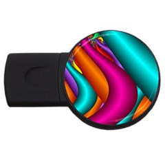 Fractal Wallpaper Color Pipes Usb Flash Drive Round (4 Gb)
