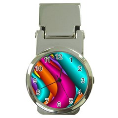 Fractal Wallpaper Color Pipes Money Clip Watches