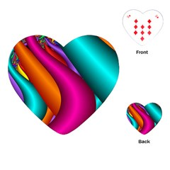 Fractal Wallpaper Color Pipes Playing Cards (heart)