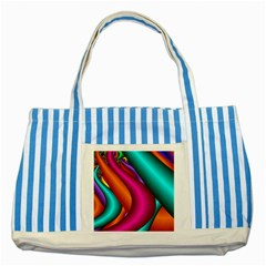 Fractal Wallpaper Color Pipes Striped Blue Tote Bag