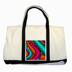 Fractal Wallpaper Color Pipes Two Tone Tote Bag