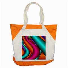 Fractal Wallpaper Color Pipes Accent Tote Bag