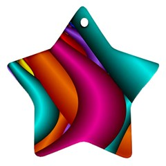 Fractal Wallpaper Color Pipes Star Ornament (two Sides)