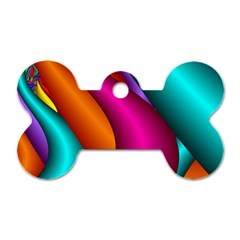 Fractal Wallpaper Color Pipes Dog Tag Bone (two Sides)