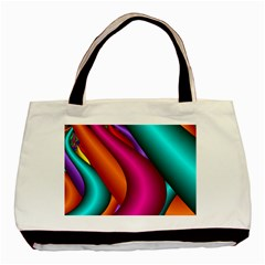 Fractal Wallpaper Color Pipes Basic Tote Bag (two Sides)