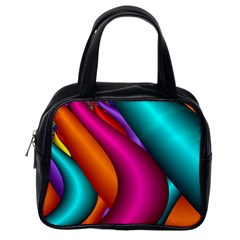 Fractal Wallpaper Color Pipes Classic Handbags (One Side)