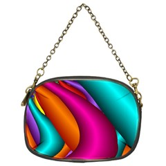 Fractal Wallpaper Color Pipes Chain Purses (two Sides)