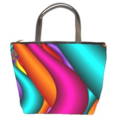 Fractal Wallpaper Color Pipes Bucket Bags