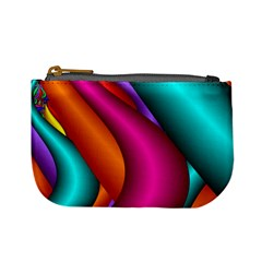 Fractal Wallpaper Color Pipes Mini Coin Purses